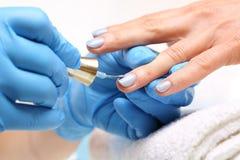 Pastel nails, nail polish Royalty Free Stock Image