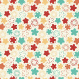 Pastel naive flowers. In pattern Royalty Free Stock Photography