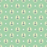 Pastel nautical pattern Stock Images