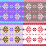 Pastel nordic knitted seamless pattern Stock Photos