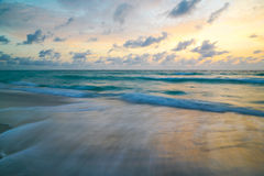Pastel Ocean Sky. Pastel colors dominate an ocean sky royalty free stock photos