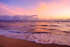 Pastel Ocean Waikiki Sunset Royalty Free Stock Images