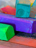 Pastel oil crayons Stock Images