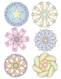 Pastel Ornament Collection Royalty Free Stock Images