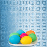 Pastel ornamental background with multicolored Stock Images