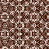 Pastel ornamental round floral lace pattern Royalty Free Stock Images