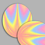 Pastel Oval Fractals. Floating on a soft gray background royalty free illustration