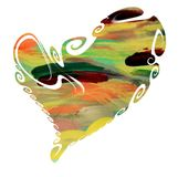 Pastel paint heart, passion love symbol Stock Images