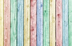 Pastel painted old weathered wood planks Stock Images