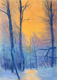 Pastel Painting Stock Photography