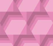 Pastel pale color tender hexagon tile. Stock Photos