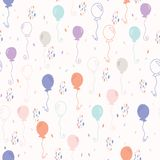 Pastel Party Balloon Vector Pattern royalty free illustration