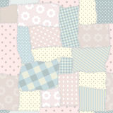 Pastel patchwork Royalty Free Stock Images