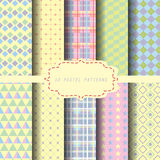 Pastel pattern 3. Set of pastel geometric pattern, vector Endless texture can be used for wallpaper, pattern fills, web page,background,surface Royalty Free Stock Photos