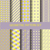 Pastel pattern 3. Set of pastel geometric pattern, vector Endless texture can be used for wallpaper, pattern fills, web page,background,surface Stock Photography