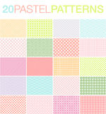 20 Pastel Patterns. Set of 20 pastel colored vector patterns Stock Photography