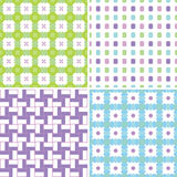 Pastel patterns Stock Photography