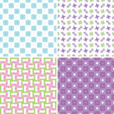 Pastel patterns Royalty Free Stock Images