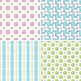 Pastel patterns Royalty Free Stock Photos