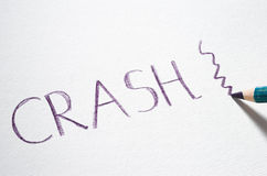 Pastel pencil writing the word Crash Royalty Free Stock Photo