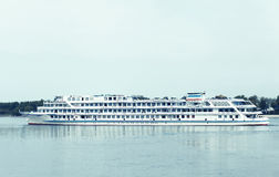 Pastel photo panorama of the passenger ship Royalty Free Stock Photo