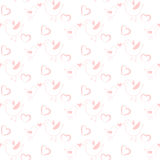 Pastel pink bird seamless pattern for kids and babies. Royalty Free Stock Images