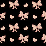 Pastel pink bow ribbon cute seamless pattern Royalty Free Stock Image