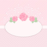 Pastel pink card Royalty Free Stock Photography