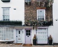 Free Pastel Pink Door On An English House In London, UK Stock Images - 141107794