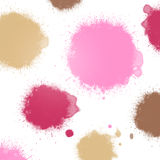Pastel pink ink blots Stock Images