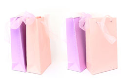 Pastel pink and lilac shopping bags Royalty Free Stock Photos