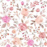 Pastel vector seamless flower pattern backdrop background. The pastel pink and purple vector seamless flower pattern backdrop background stock illustration
