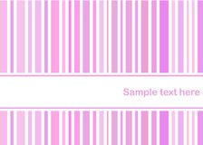 Pastel pink stripes card Royalty Free Stock Photography