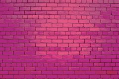 Pastel pink wall. Pink brick wall background texture stock image