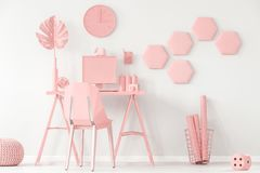 Pastel pink and white interior Stock Image