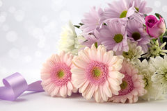 Pastel Pinks. Beautiful bouquet of pink flowers Royalty Free Stock Images