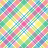 Pastel Plaid. Illustration of pink,green,blue and yellow pastel plaid Stock Photos