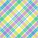 Pastel Plaid. Illustration of blue, green, purple and yellow plaid Royalty Free Stock Image