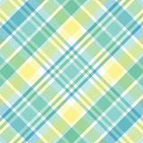 Pastel Plaid. Illustration of green, blue and yellow pastel plaid Stock Photography