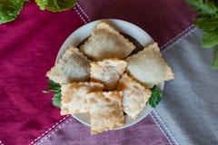 Pastel (plat brésilien) Photo stock