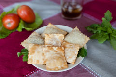 Pastel (plat brésilien) Image stock