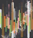 Pastel pod lines royalty free illustration
