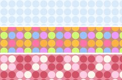 Pastel polkadot Royalty Free Stock Photos