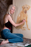 Pastel Portrait Artist Stock Photos