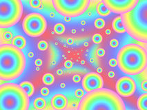 Pastel psychedelic assault Eyes Royalty Free Stock Photos