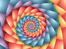 Pastel Psychedelic Rainbow Spiral Background Stock Photography