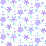 Pastel purple blue simple flower pattern Royalty Free Stock Photos