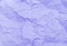 Pastel purple color crumpled paper texture background Stock Photo