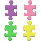 Pastel Puzzle Pieces Royalty Free Stock Photo