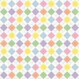 Pastel Rainbow Argyle Pattern Stock Photo